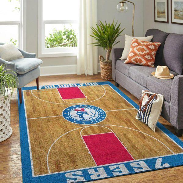 Amazon Philadelphia 76ers Living Room Area No4460 Rug
