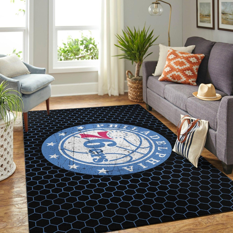 Amazon Philadelphia 76ers Living Room Area No4462 Rug