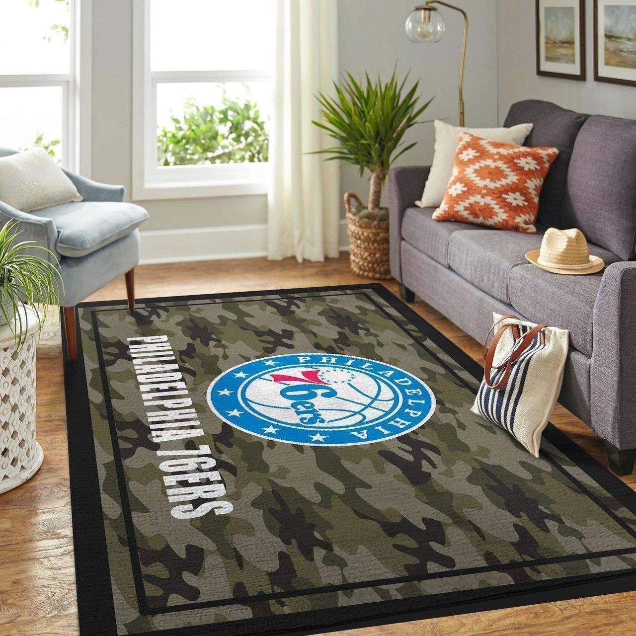 Amazon Philadelphia 76ers Living Room Area No4470 Rug
