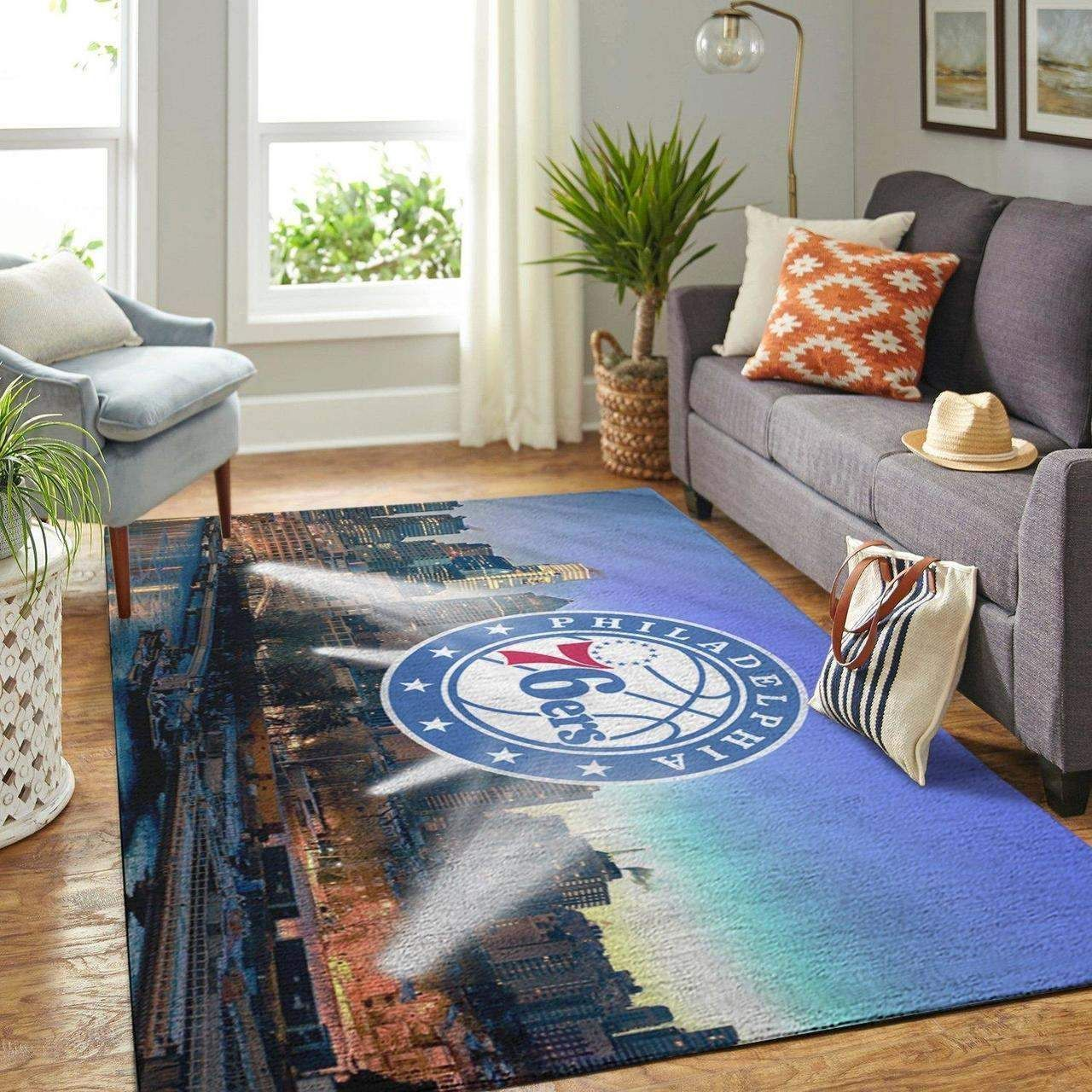 Amazon Philadelphia 76ers Living Room Area No4473 Rug