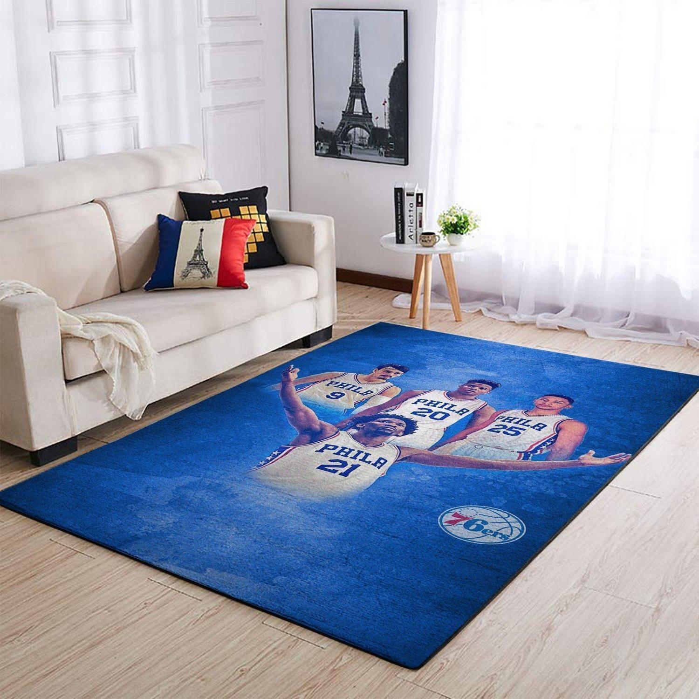 Amazon Philadelphia 76ers Living Room Area No4477 Rug
