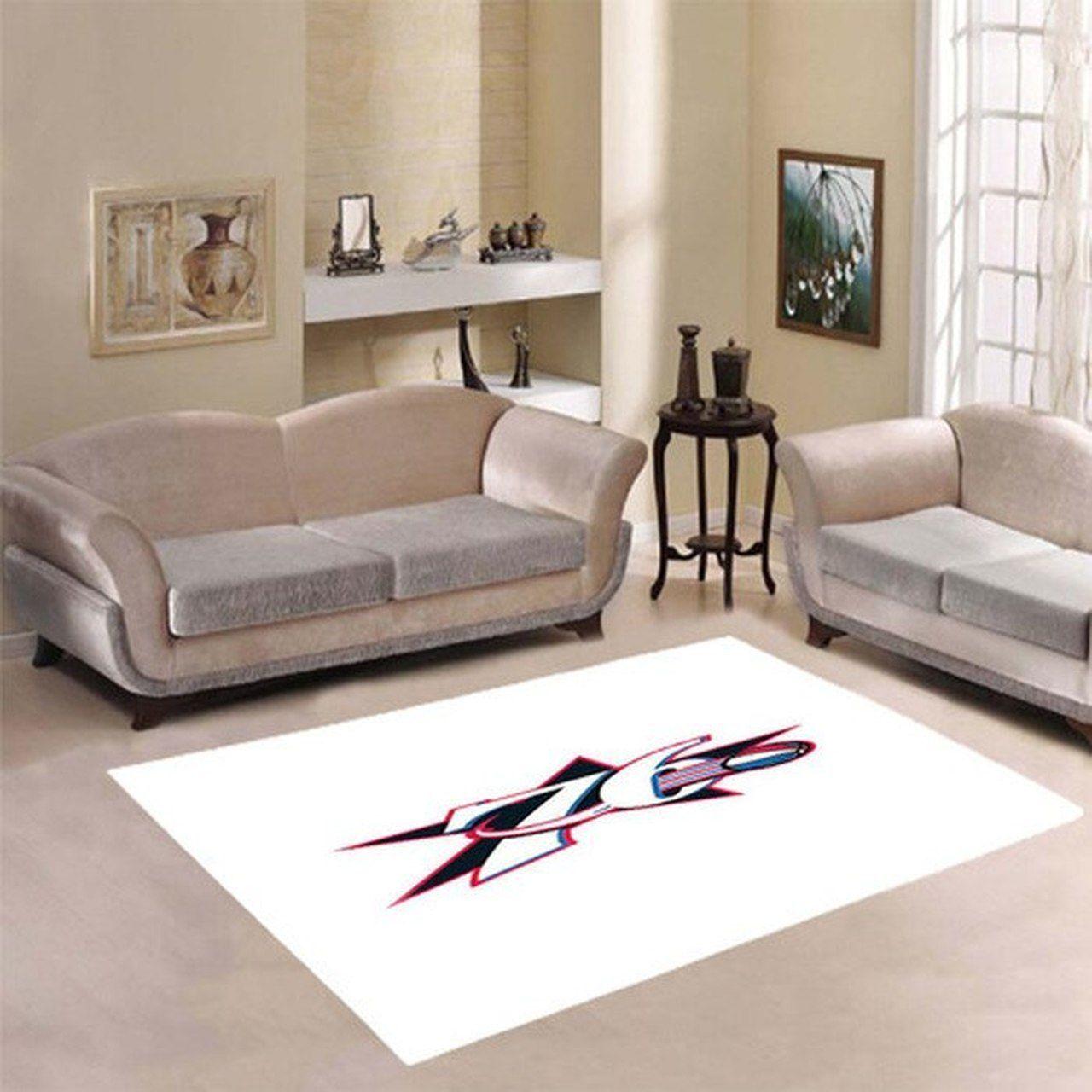 Amazon Philadelphia 76ers Living Room Area No4478 Rug