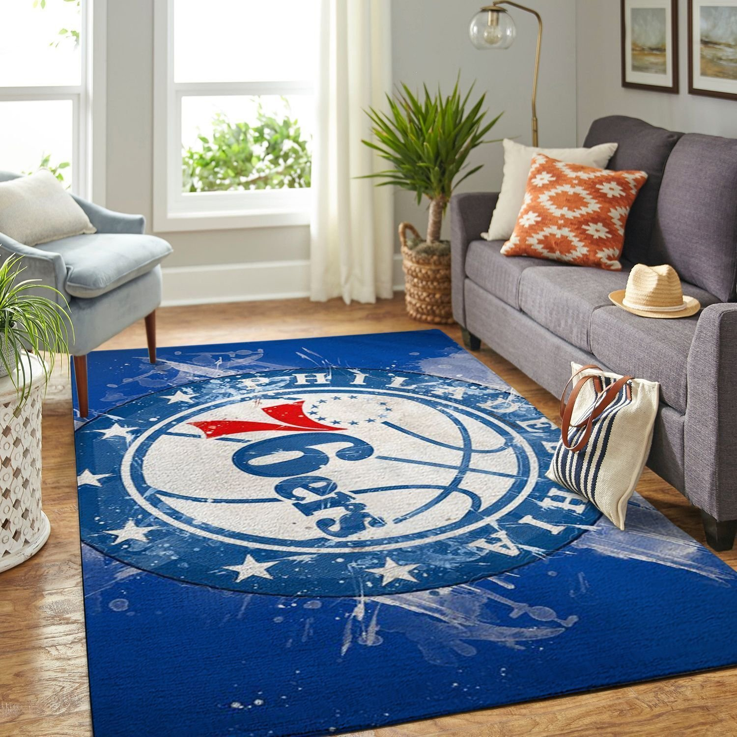 Amazon Philadelphia 76ers Living Room Area No4484 Rug