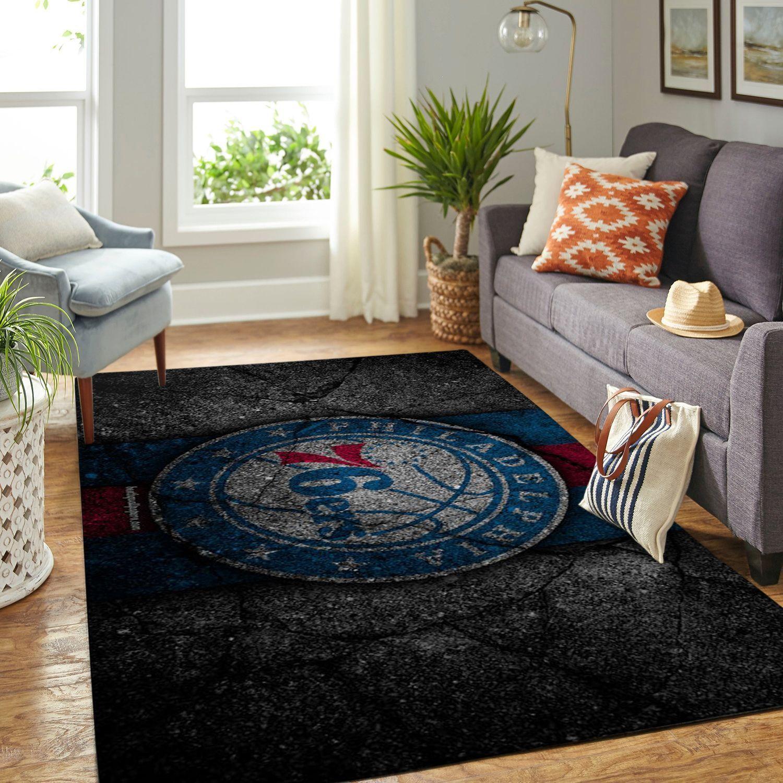 Amazon Philadelphia 76ers Living Room Area No4485 Rug