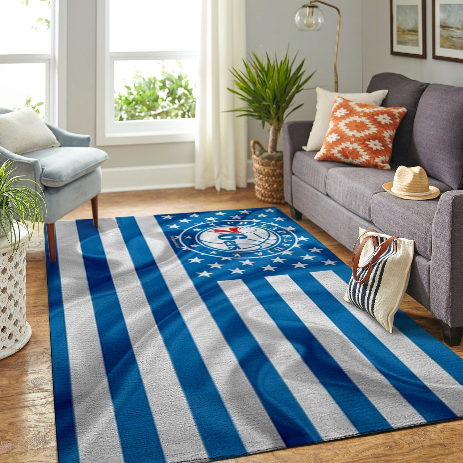 Amazon Philadelphia 76ers Living Room Area No4486 Rug