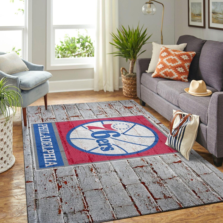 Amazon Philadelphia 76ers Living Room Area No4487 Rug
