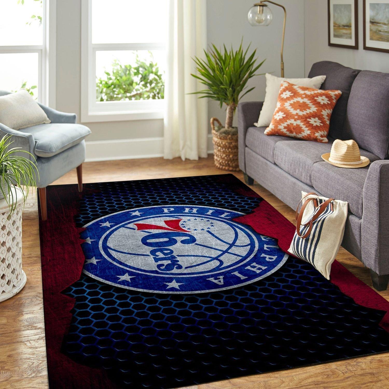 Amazon Philadelphia 76ers Living Room Area No4491 Rug