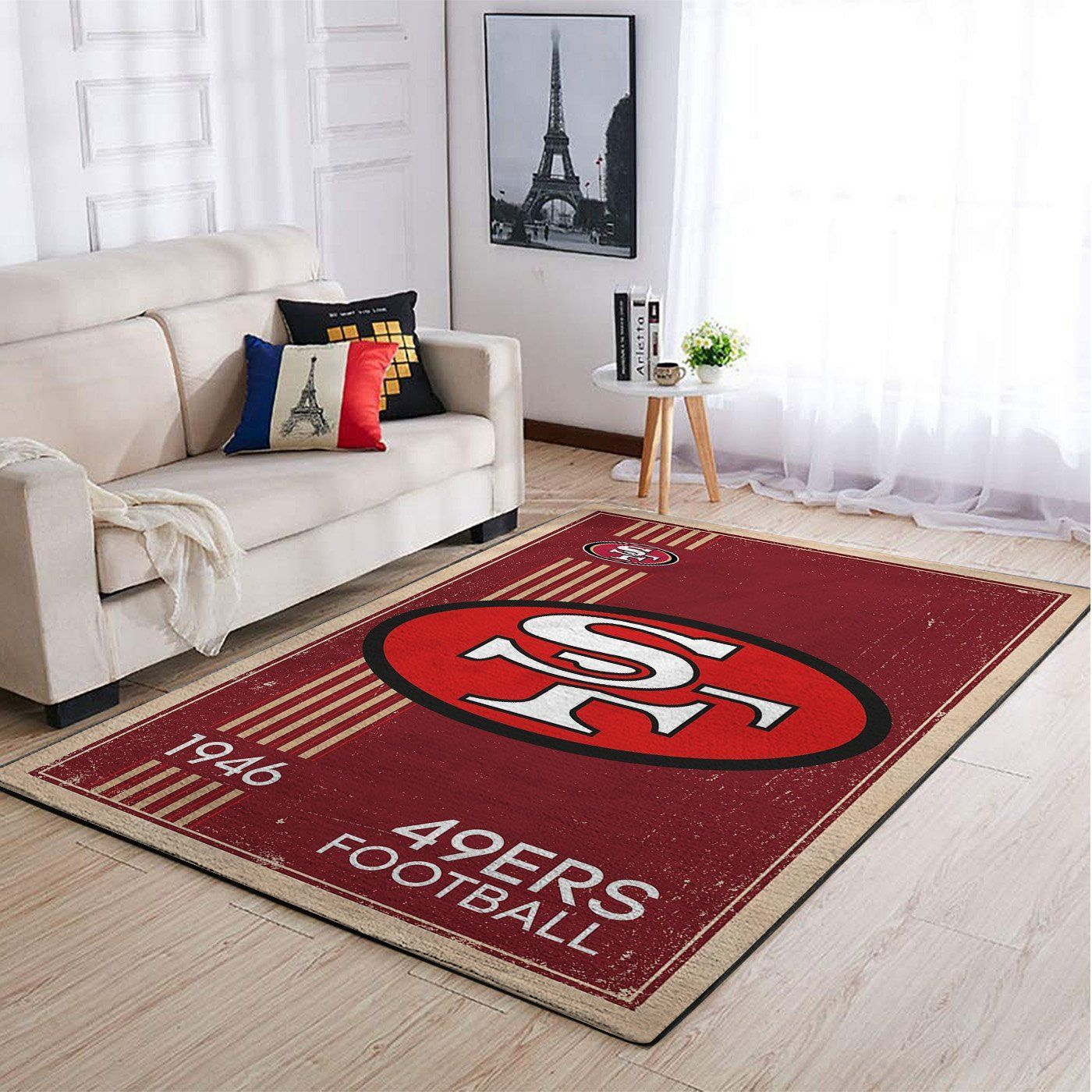 Amazon San Francisco 49ers Living Room Area No4861 Rug
