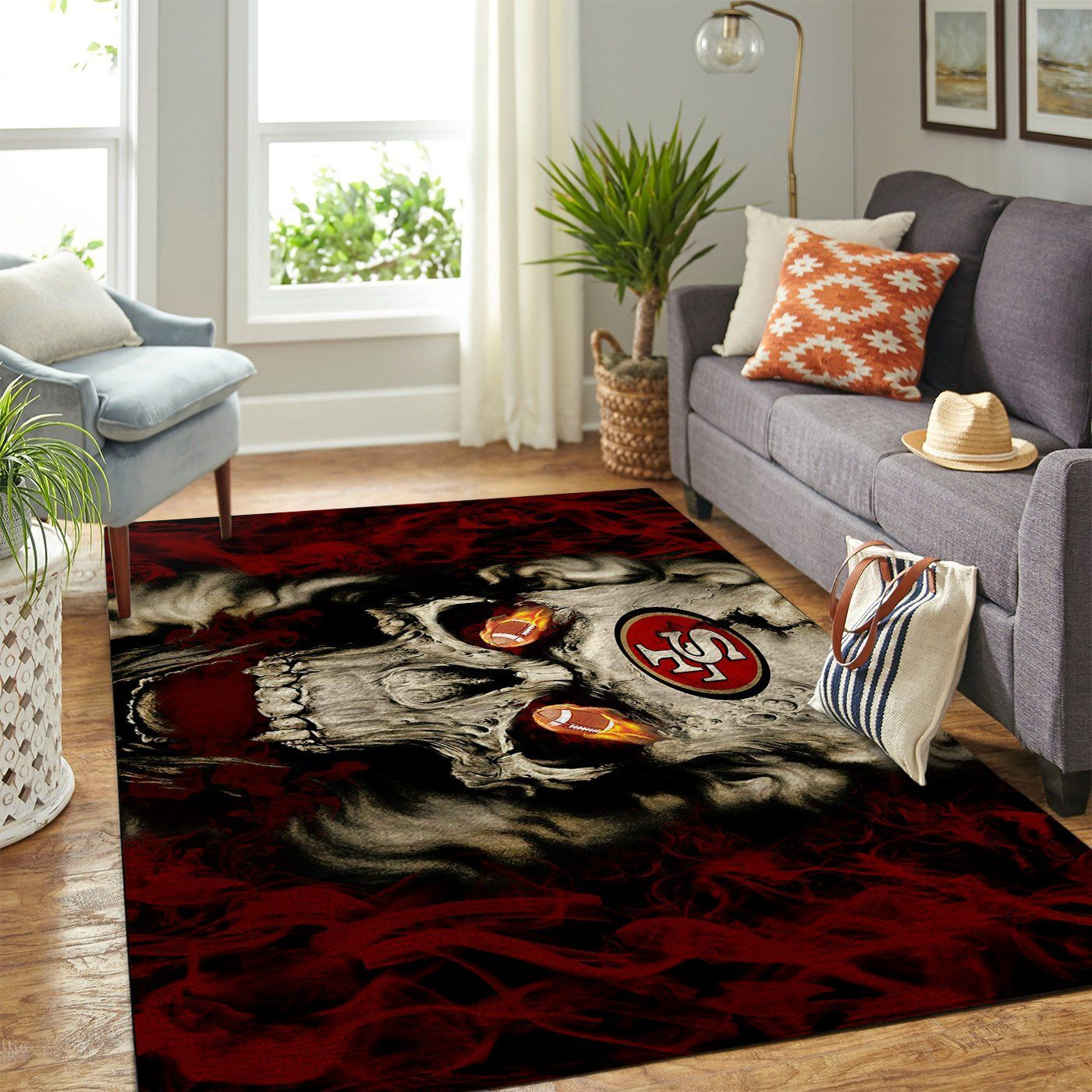 Amazon San Francisco 49ers Living Room Area No4863 Rug