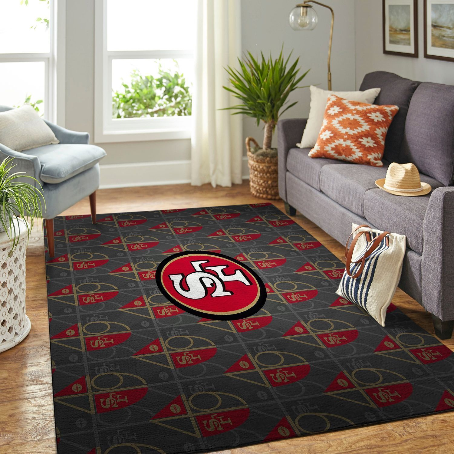 Amazon San Francisco 49ers Living Room Area No4896 Rug
