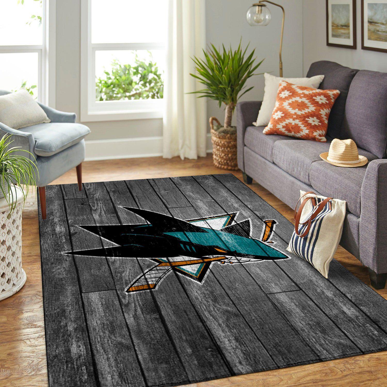 Amazon San Jose Sharks Living Room Area No4935 Rug