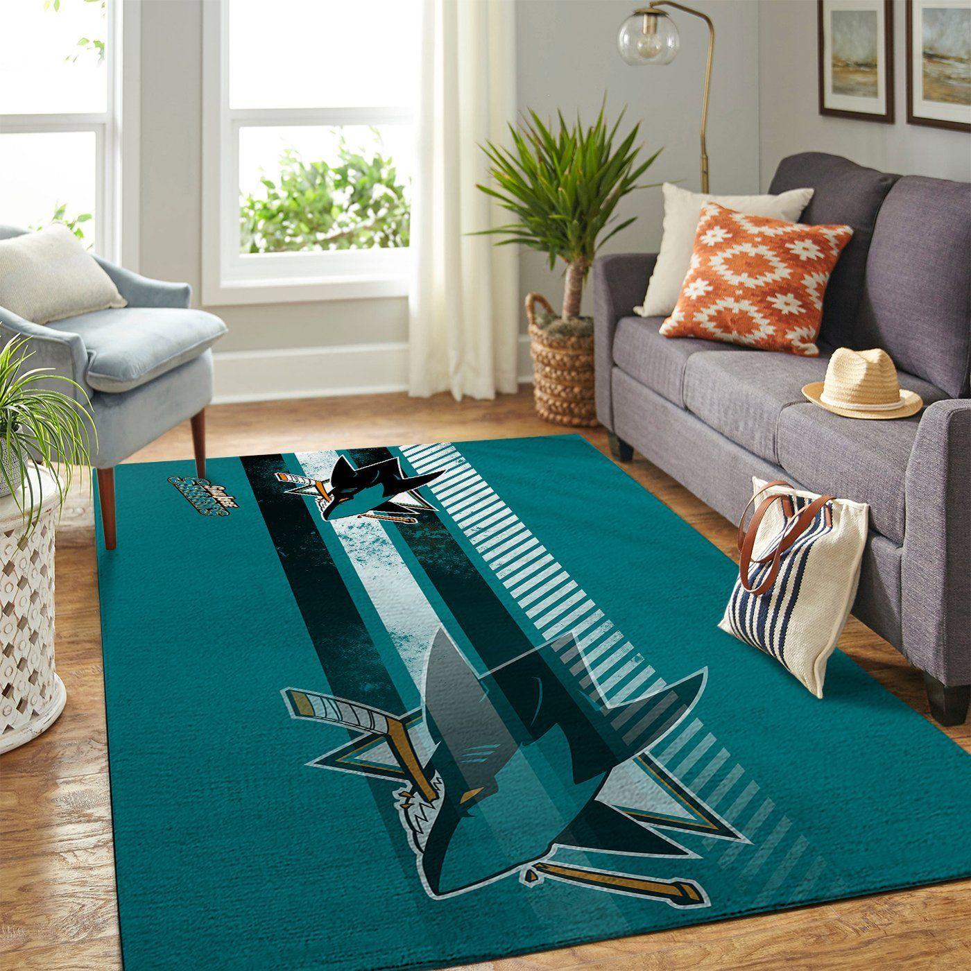 Amazon San Jose Sharks Living Room Area No4937 Rug