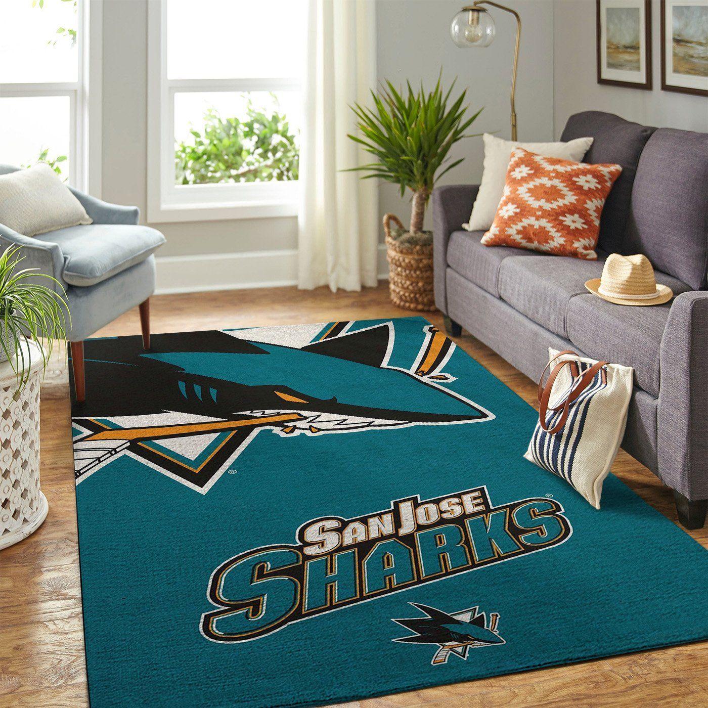 Amazon San Jose Sharks Living Room Area No4940 Rug