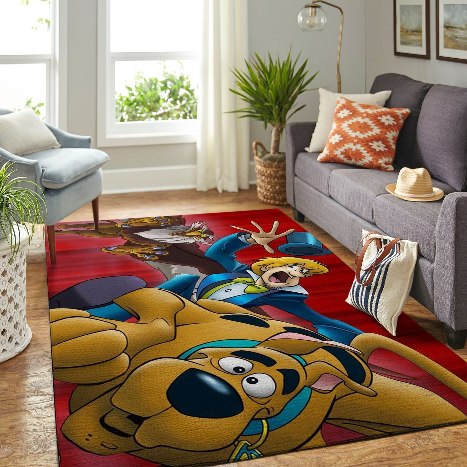 Amazon Scooby Dog Living Room Area No6514 Rug