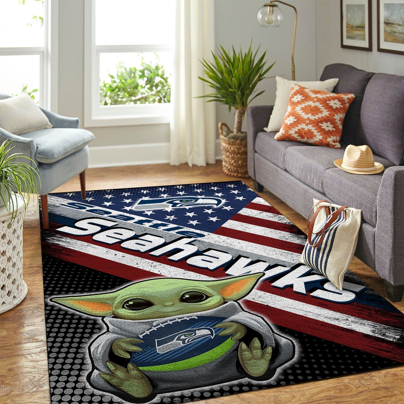 Amazon Seattle Seahawks Living Room Area No4967 Rug