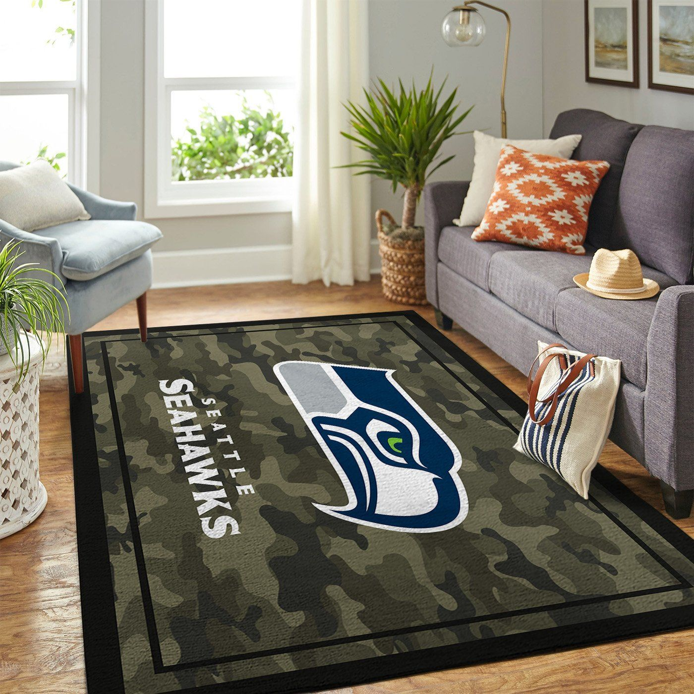Amazon Seattle Seahawks Living Room Area No4968 Rug
