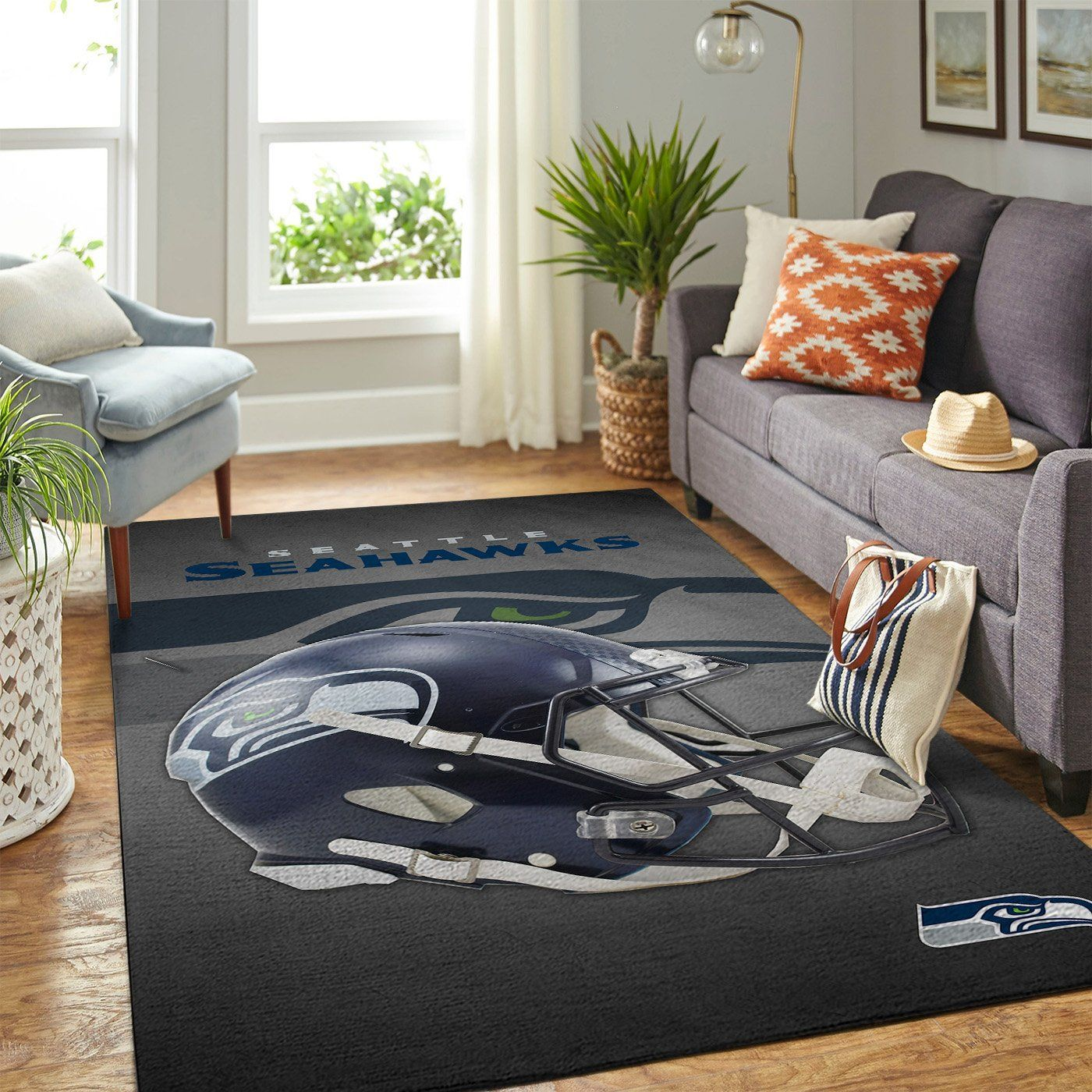 Amazon Seattle Seahawks Living Room Area No4972 Rug