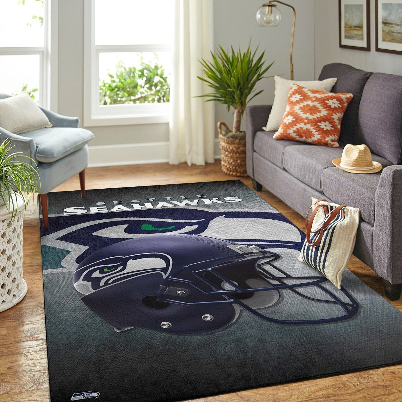 Amazon Seattle Seahawks Living Room Area No4973 Rug