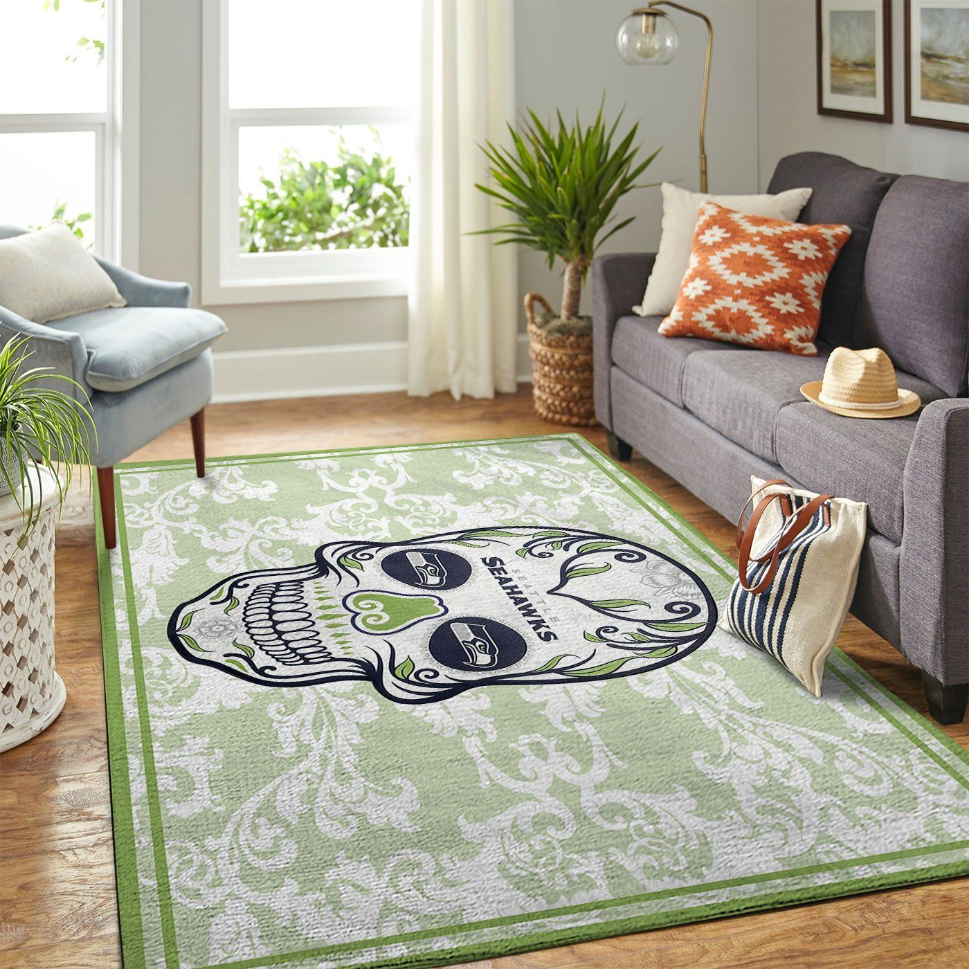 Amazon Seattle Seahawks Living Room Area No4977 Rug
