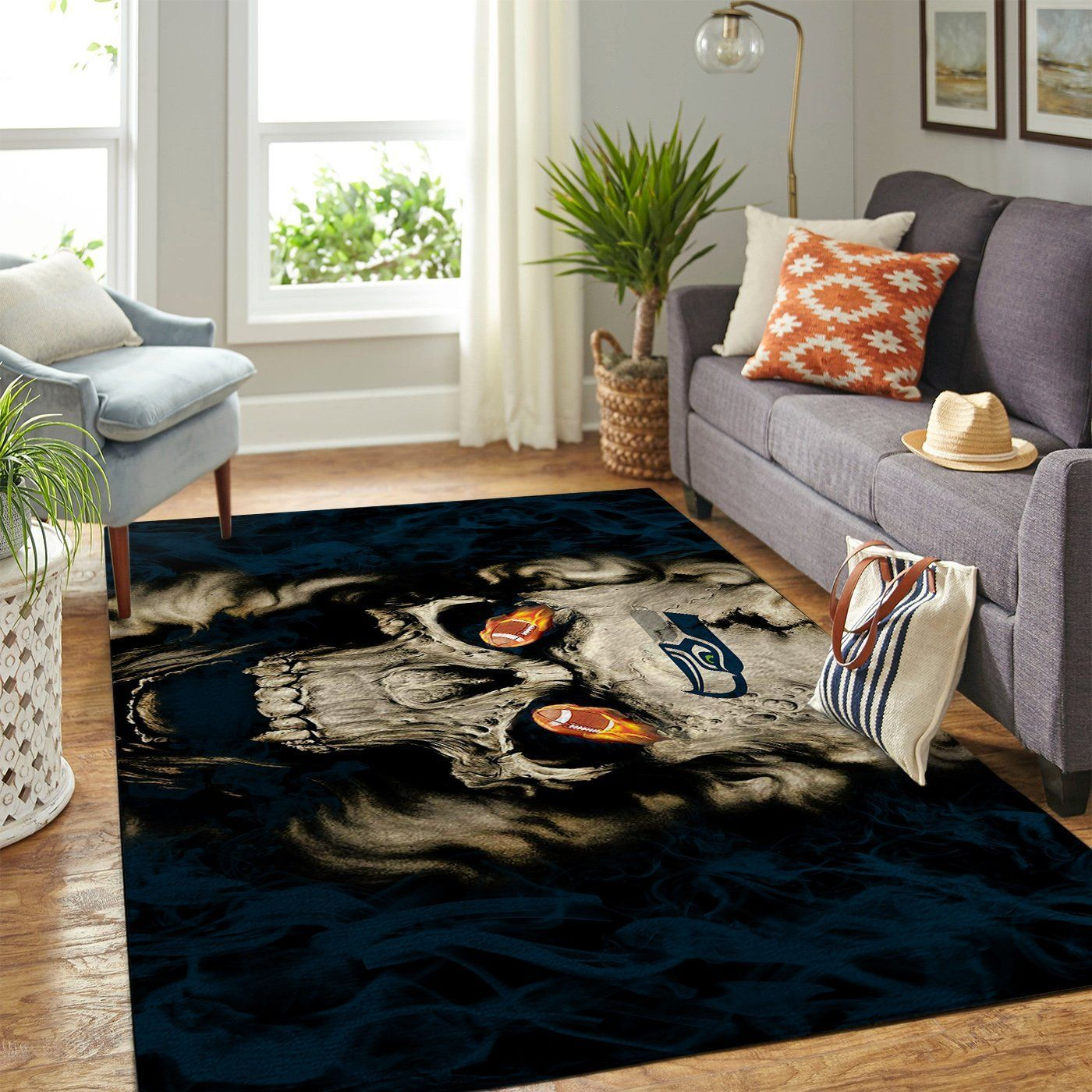 Amazon Seattle Seahawks Living Room Area No4978 Rug
