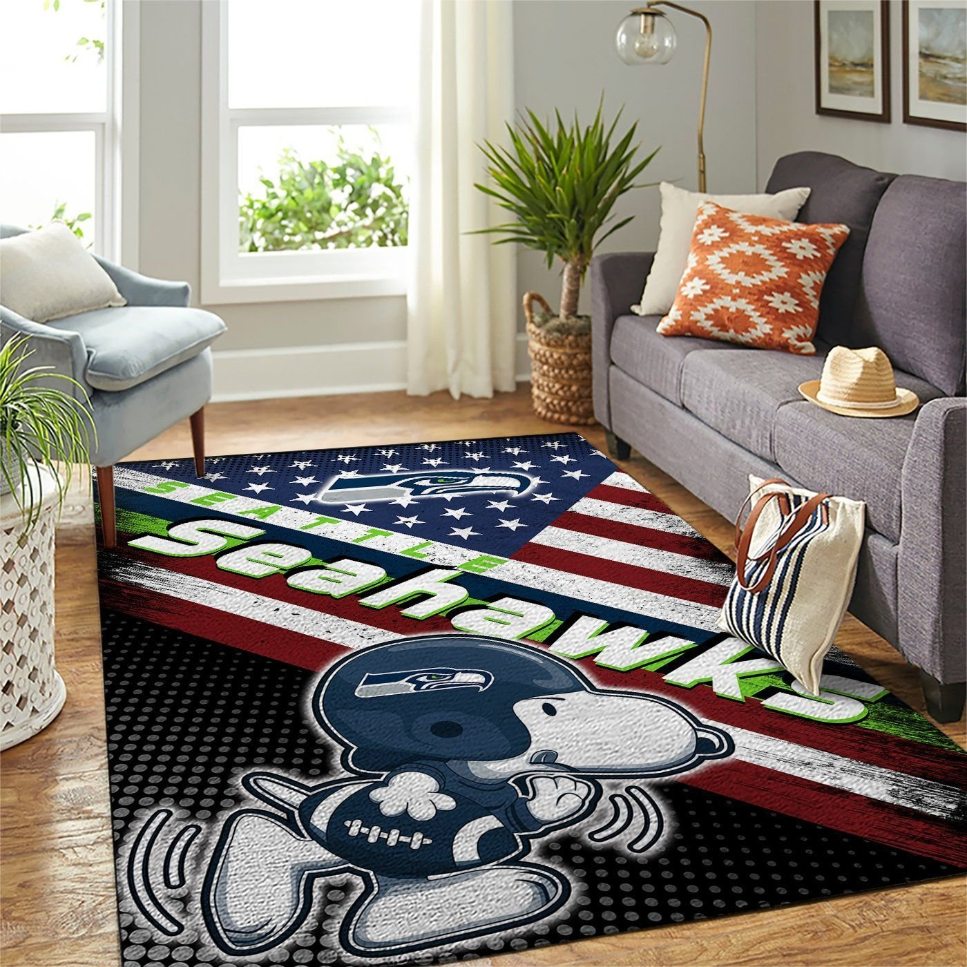 Amazon Seattle Seahawks Living Room Area No4979 Rug