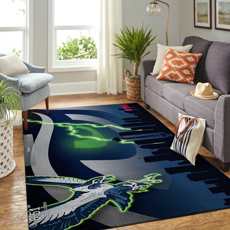 Amazon Seattle Seahawks Living Room Area No4983 Rug