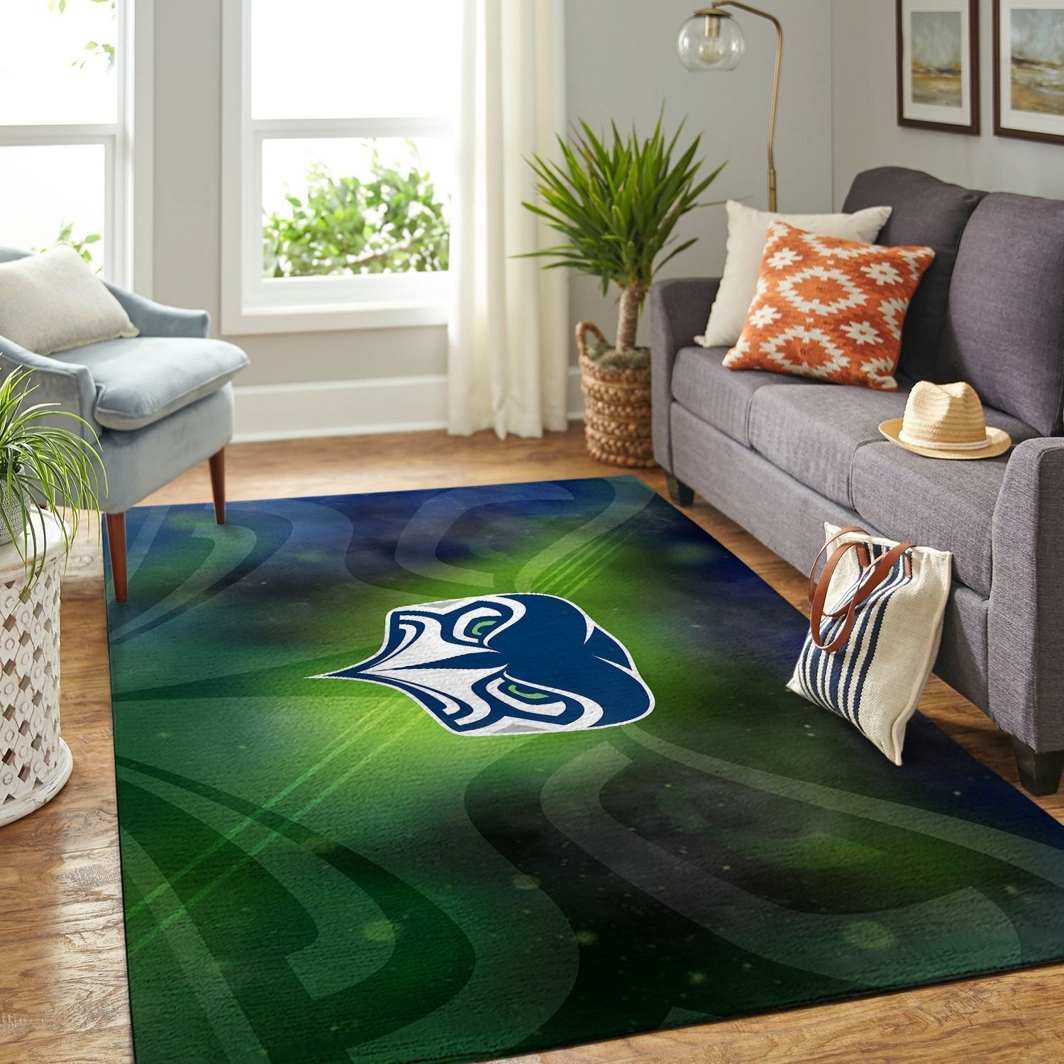Amazon Seattle Seahawks Living Room Area No4985 Rug