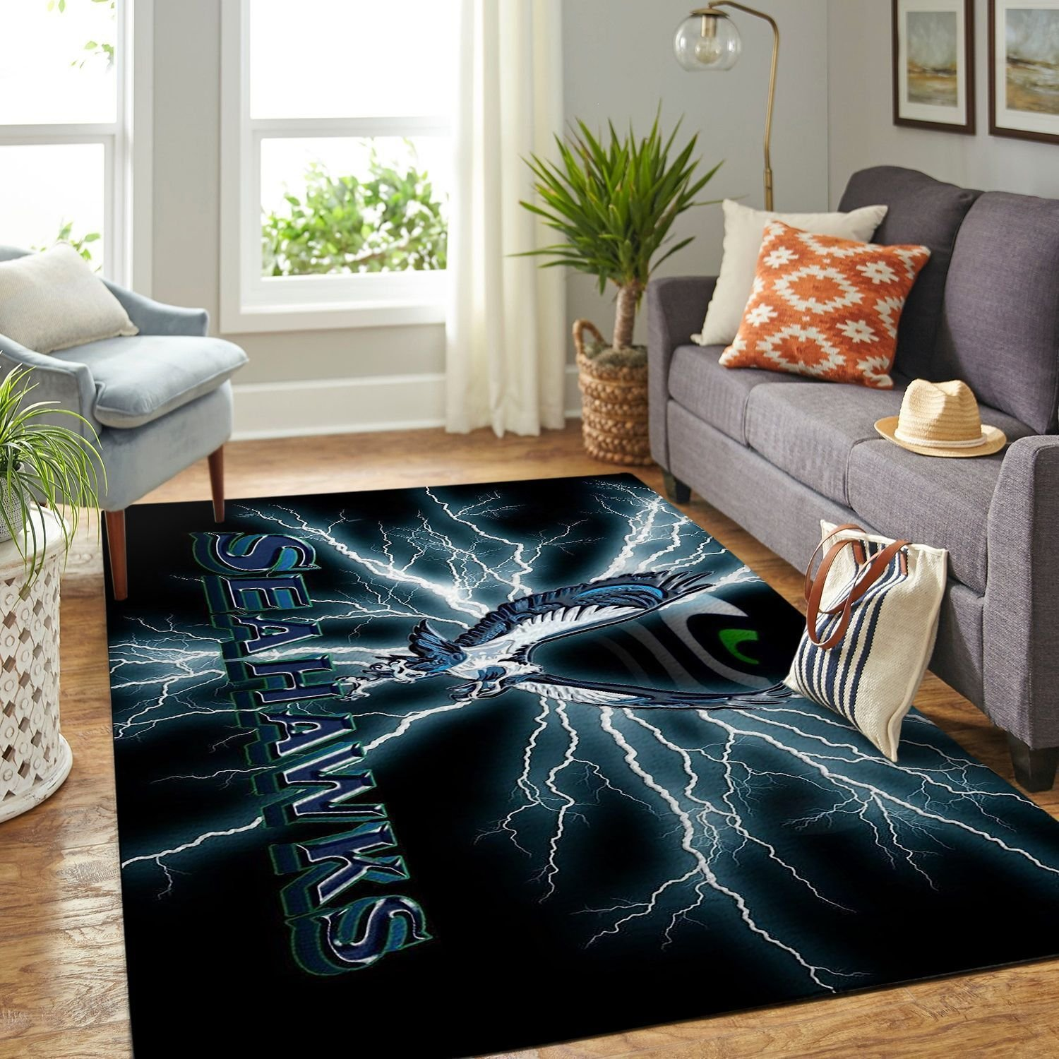Amazon Seattle Seahawks Living Room Area No4986 Rug