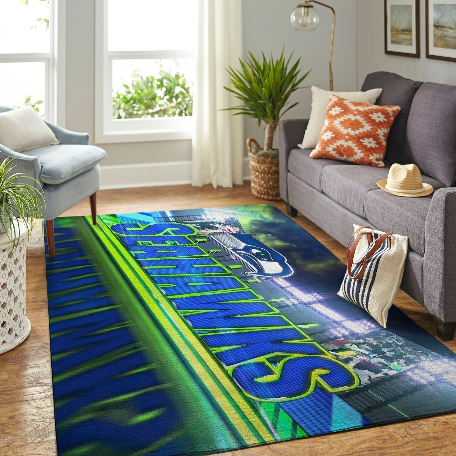 Amazon Seattle Seahawks Living Room Area No4987 Rug