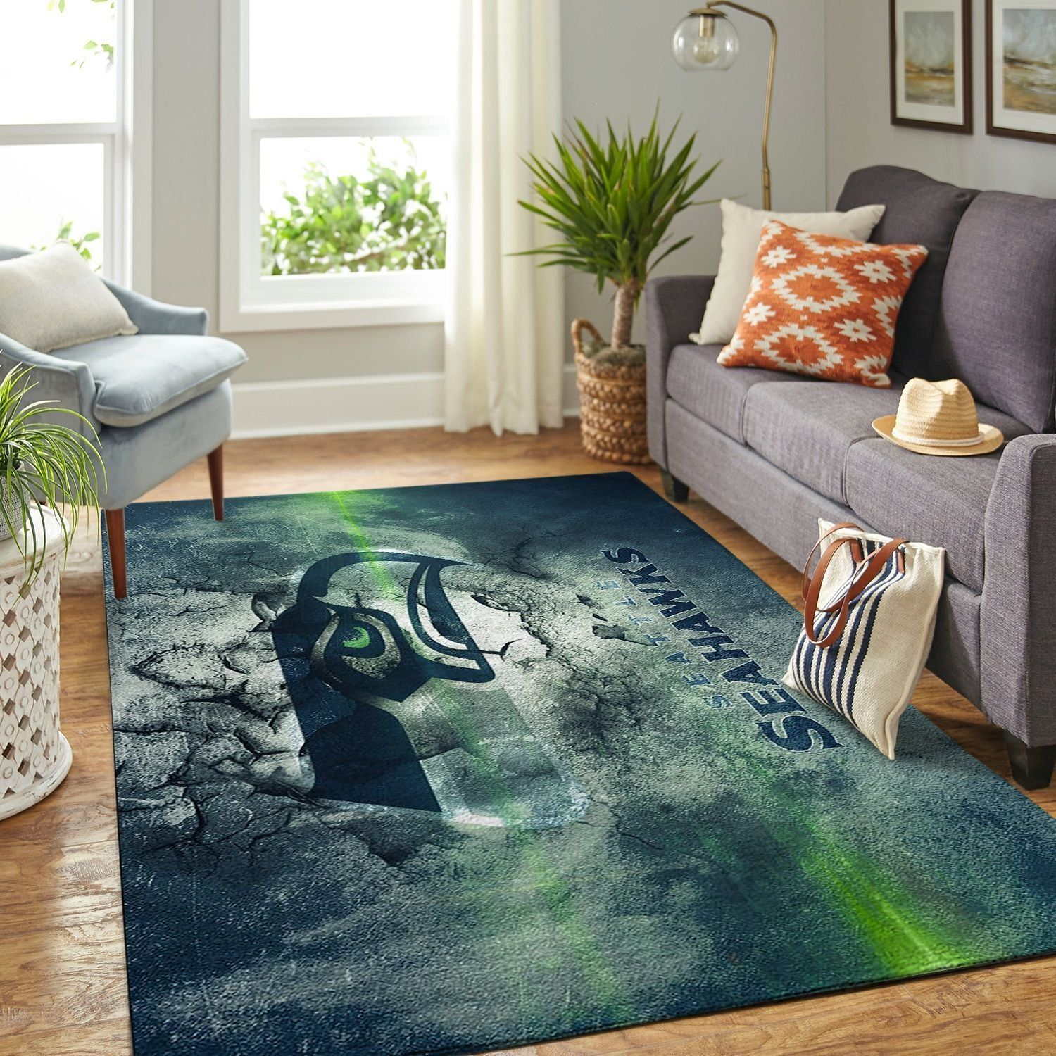 Amazon Seattle Seahawks Living Room Area No4988 Rug