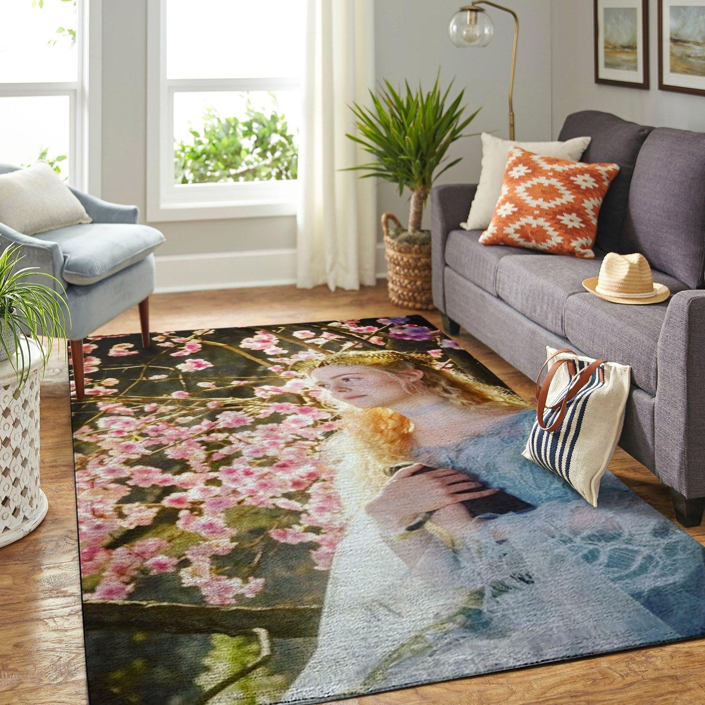 Amazon Sleeping Princess Aurora Elle Fanning Living Room Area No6522 Rug