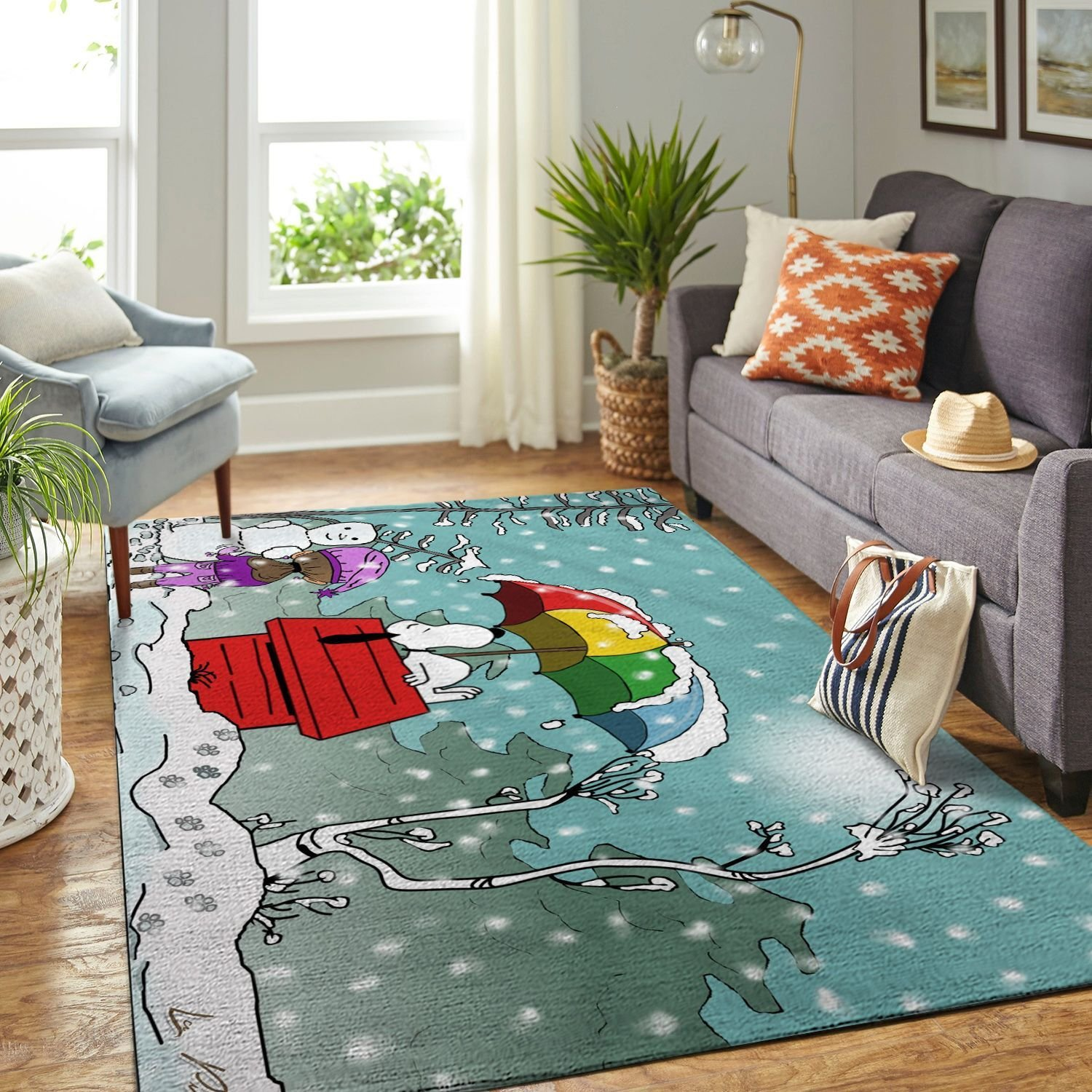 Amazon Snoopy Dog And Peanuts Comic Living Room Area No6534 Rug