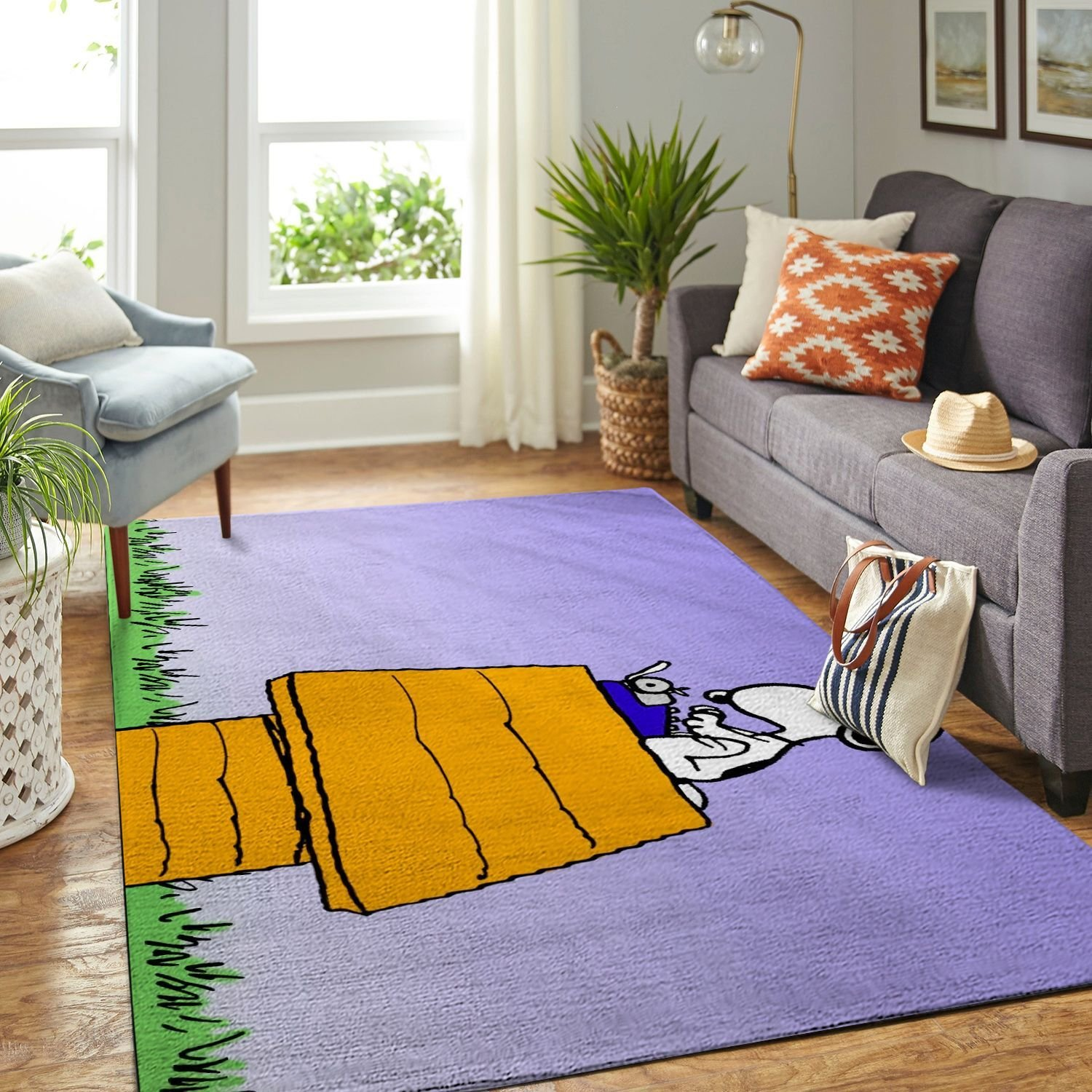 Amazon Snoopy Dog And Peanuts Comic Living Room Area No6537 Rug