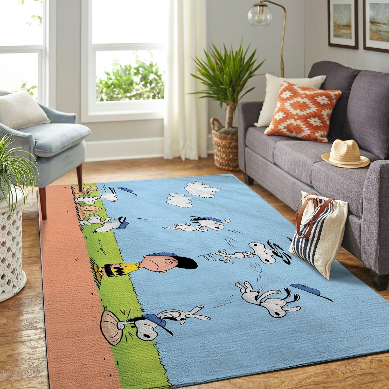 Amazon Snoopy Dog And Peanuts Comic Living Room Area No6538 Rug