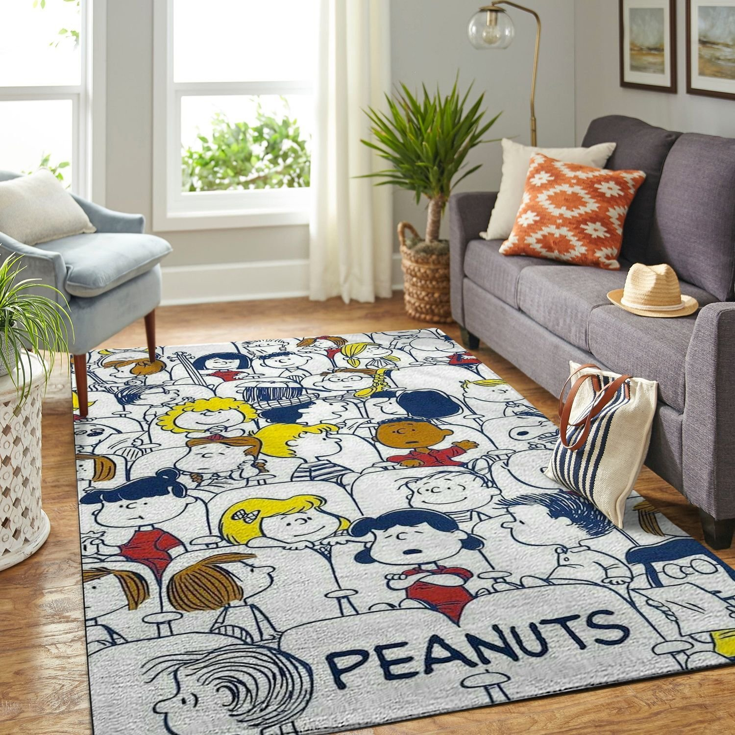 Amazon Snoopy Dog And Peanuts Comic Living Room Area No6550 Rug