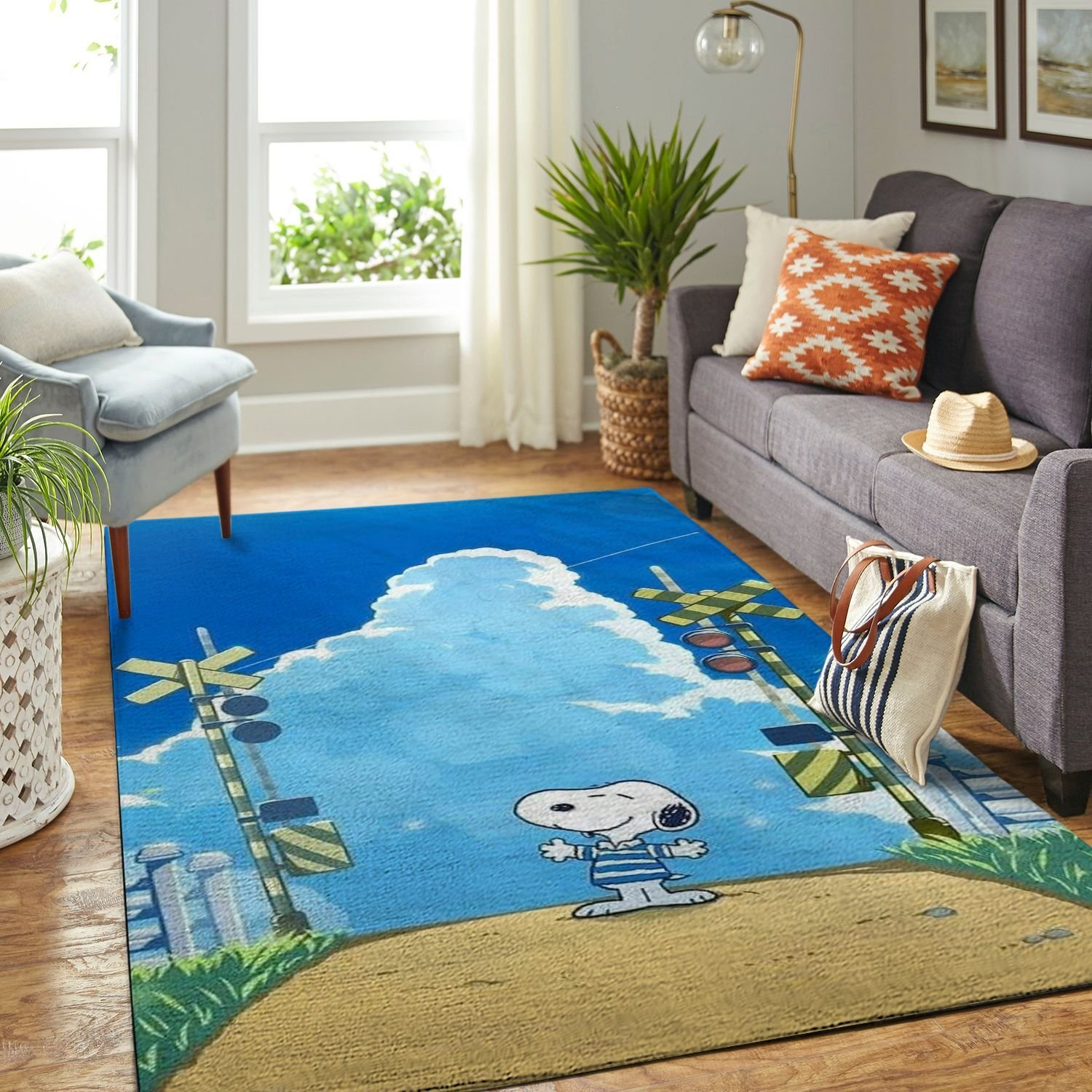 Amazon Snoopy Dog And Peanuts Comic Living Room Area No6553 Rug