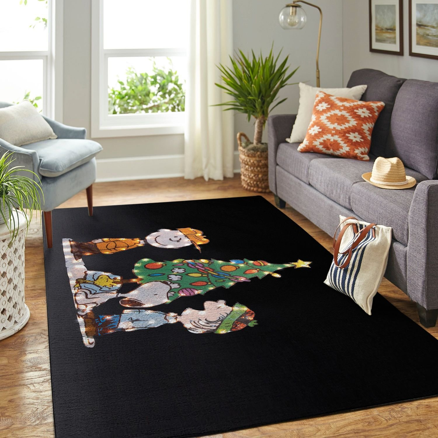Amazon Snoopy Dog And Peanuts Comic Living Room Area No6555 Rug