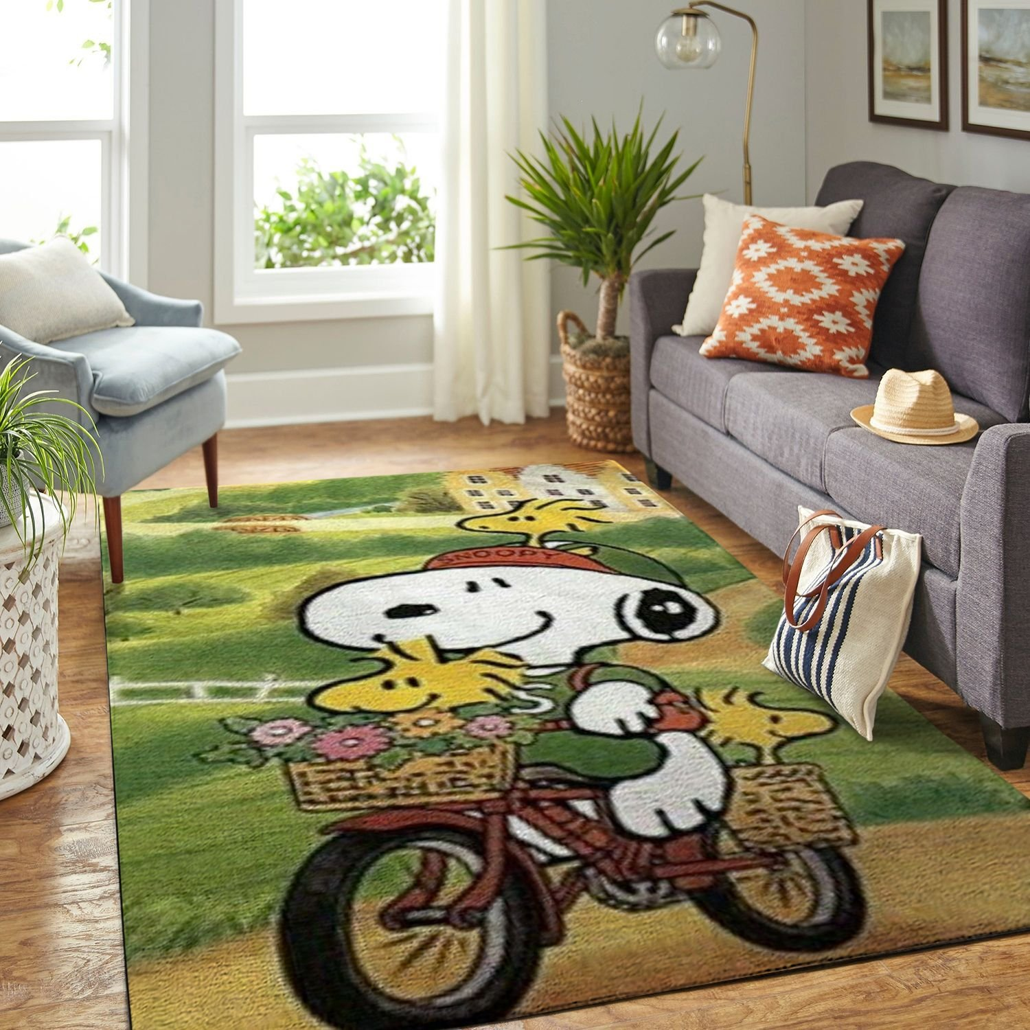 Amazon Snoopy Dog And Peanuts Comic Living Room Area No6556 Rug