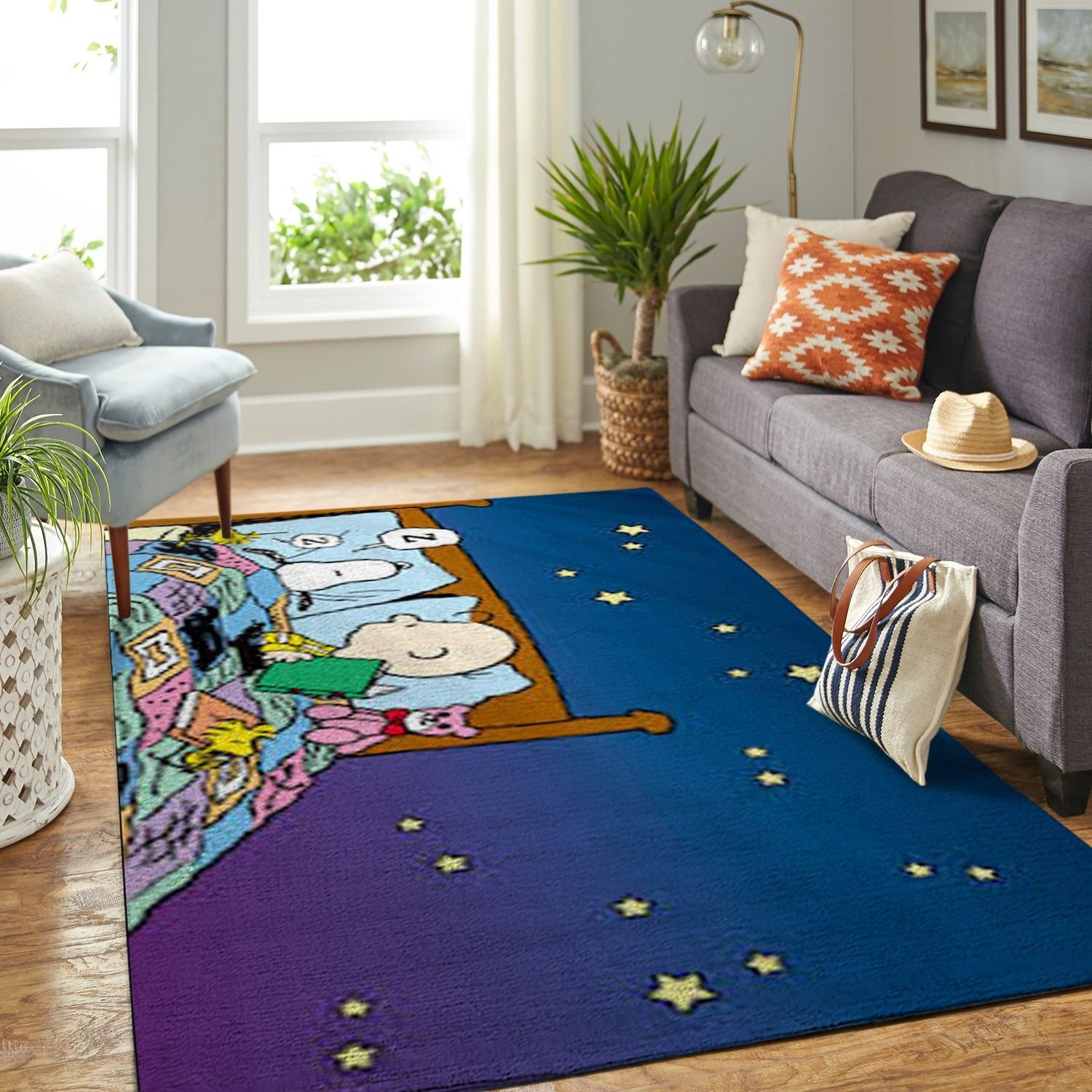Amazon Snoopy Dog And Peanuts Comic Living Room Area No6558 Rug