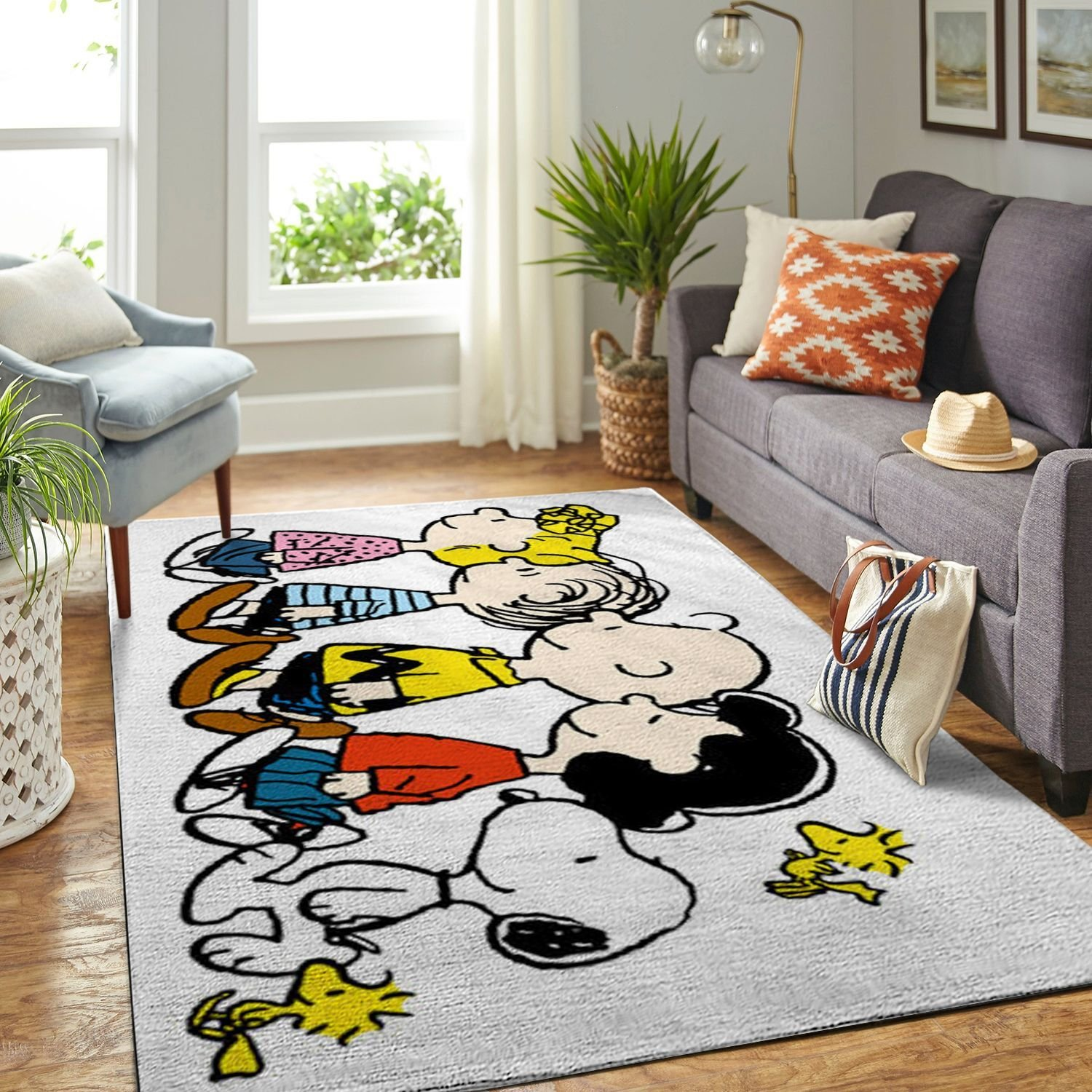 Amazon Snoopy Dog And Peanuts Comic Living Room Area No6559 Rug