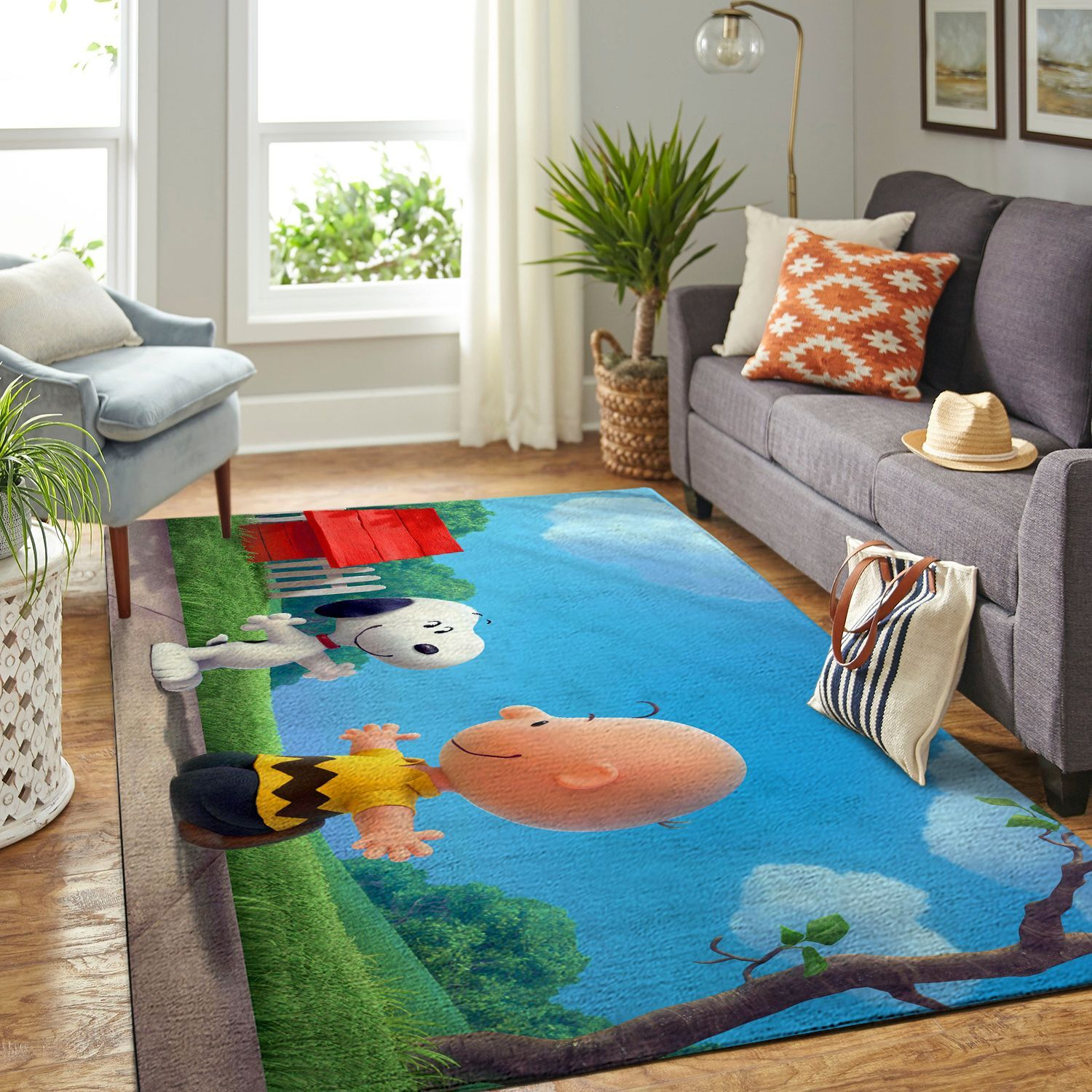 Amazon Snoopy Dog And Peanuts Comic Living Room Area No6565 Rug