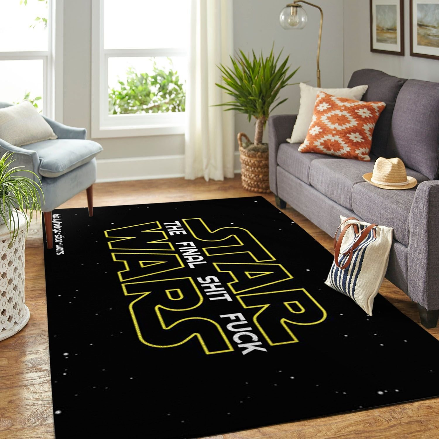 Amazon Star War Symbol Living Room Area No6664 Rug