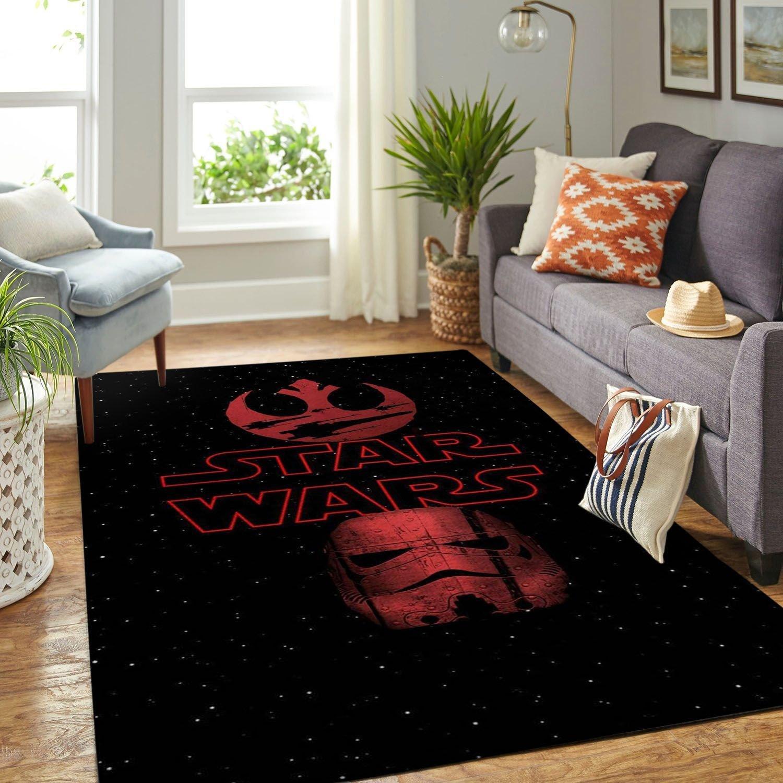Amazon Star War Symbol Living Room Area No6665 Rug