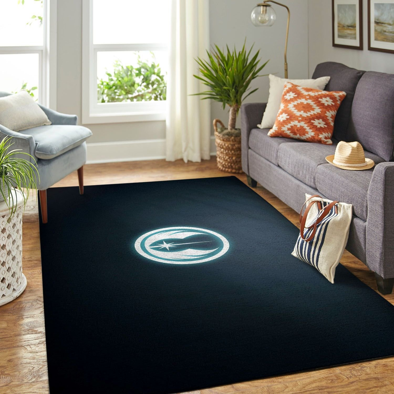 Amazon Star War Symbol Living Room Area No6669 Rug