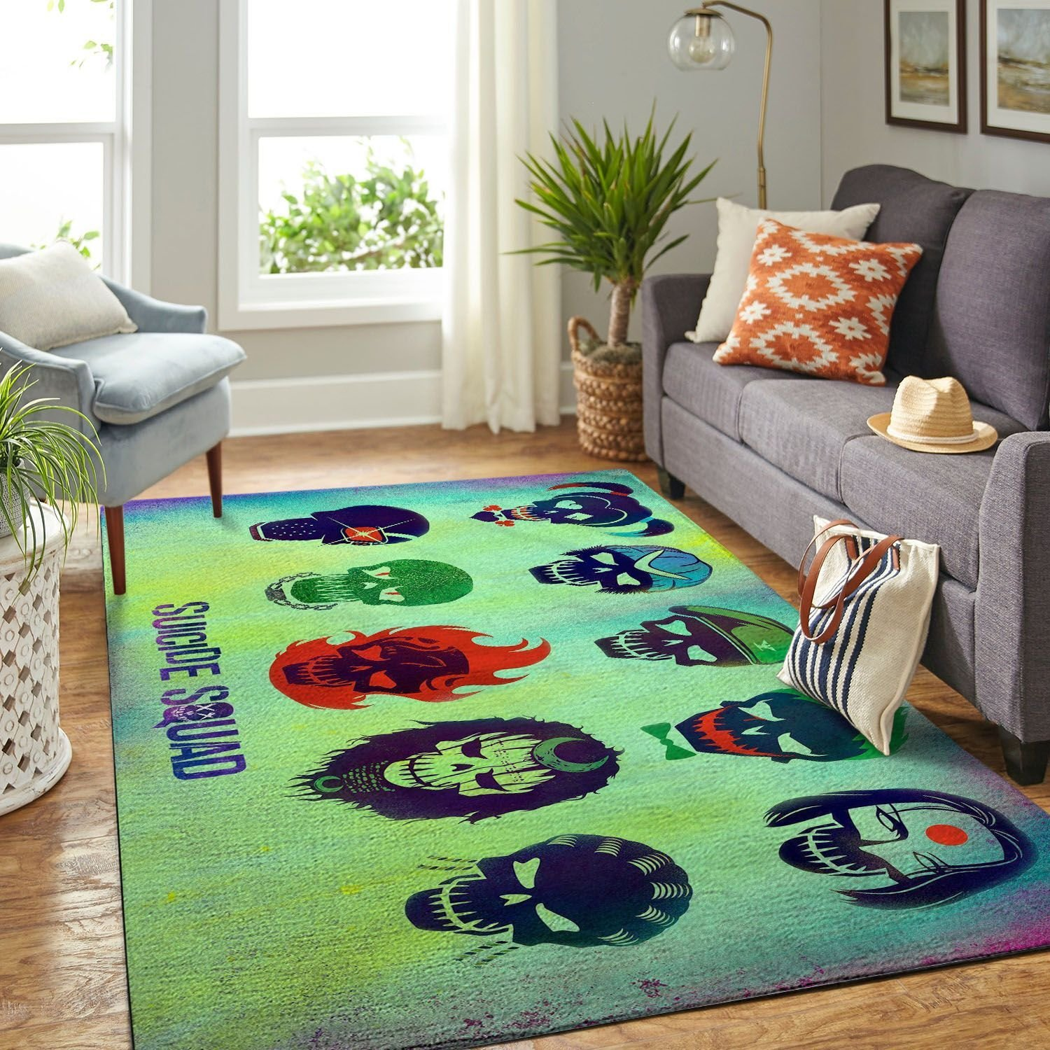 Amazon Suicide Squad Living Room Area No6673 Rug