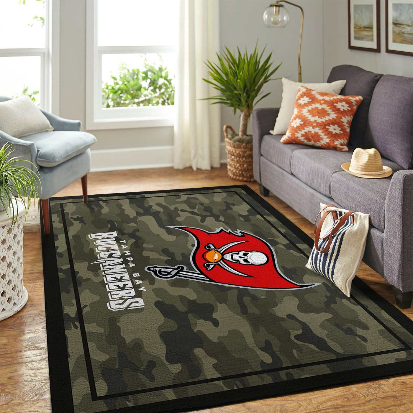 Amazon Tampa Bay Buccaneers Living Room Area No5052 Rug