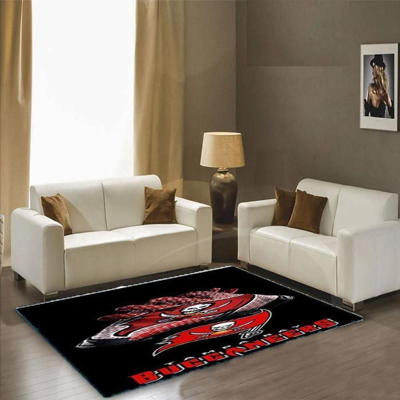 Amazon Tampa Bay Buccaneers Living Room Area No5071 Rug