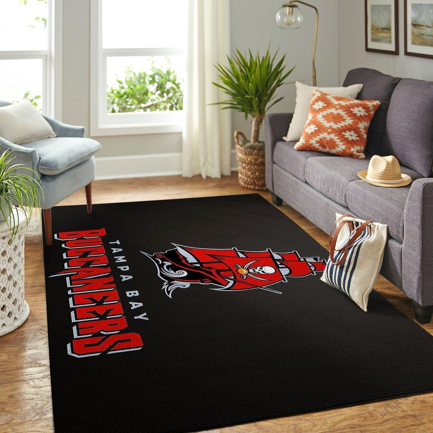Amazon Tampa Bay Buccaneers Living Room Area No5077 Rug