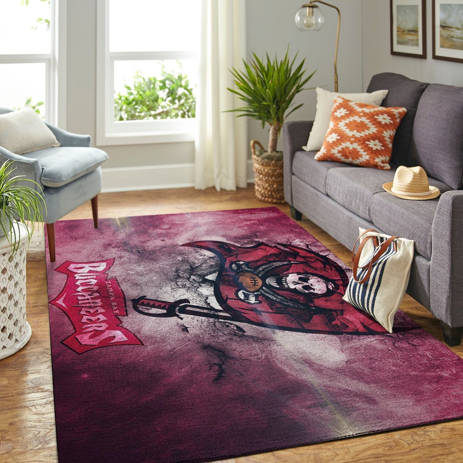 Amazon Tampa Bay Buccaneers Living Room Area No5078 Rug
