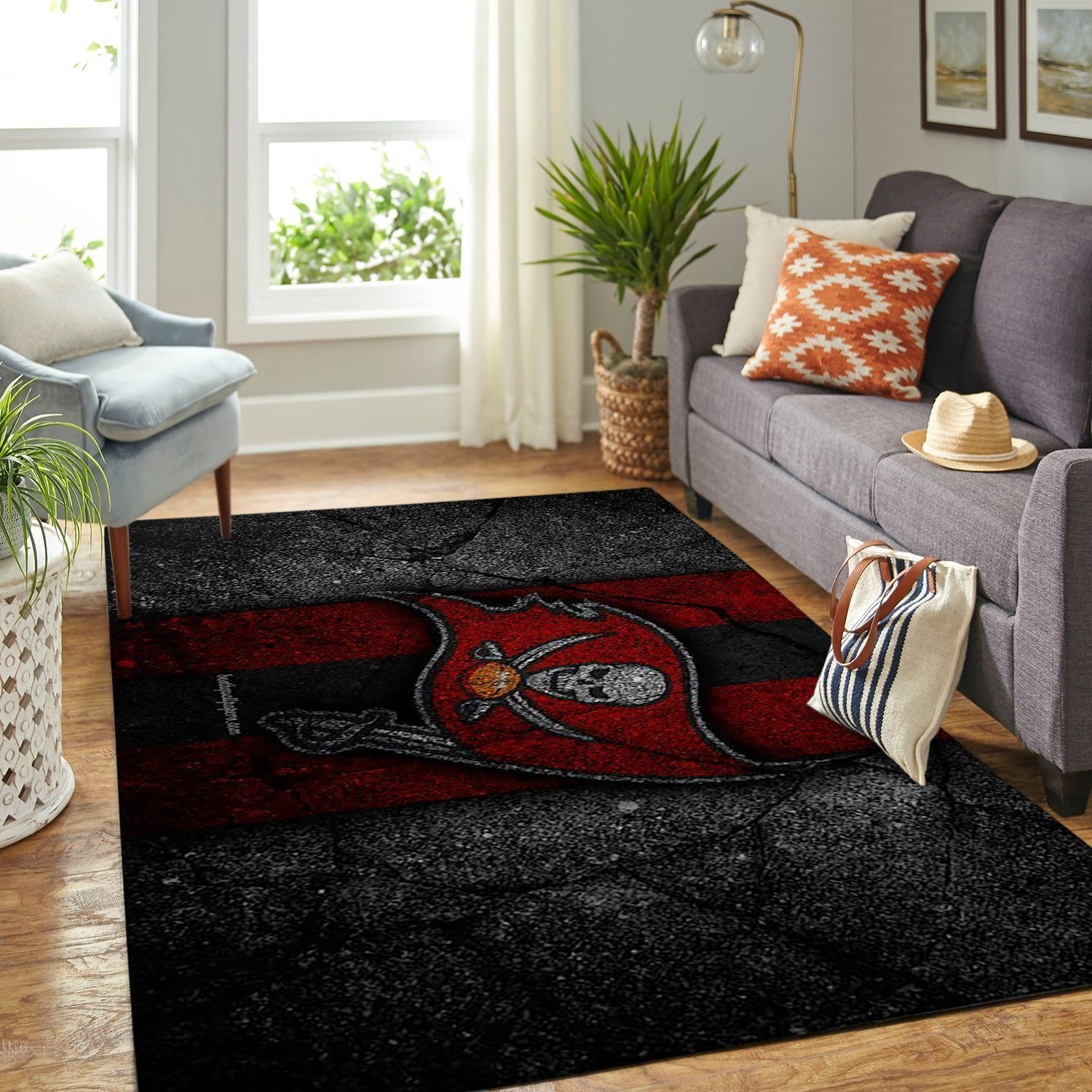 Amazon Tampa Bay Buccaneers Living Room Area No5081 Rug